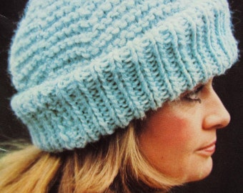 Knitted Hat PDF Pattern - Vintage Pattern Ladies' Knit Hat 2284-212