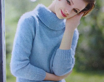 Knit Sweater Pattern - 1960's Vintage Pattern, Women's Sweater PDF Pattern 2815