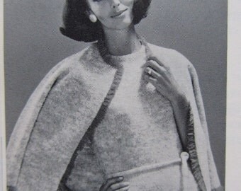 1960's Knitting PDF Patterns, Vintage Pattern Women's Dress and Sweater Set 6716
