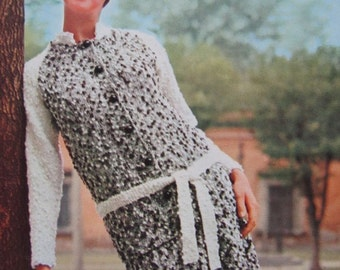1960's Knitting PDF Patterns, Vintage Pattern Women's Knit Dress Pattern 1108