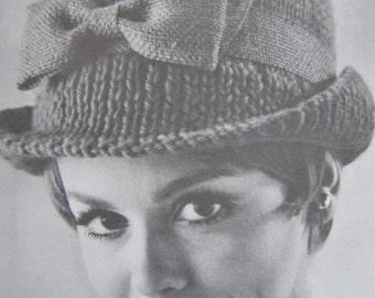 Knit Hat Patterns - Knit Hat Women, Vintage Patterns PDF Pattern 118s