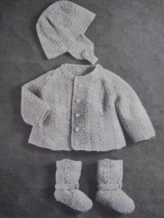 Knitting Vintage Things : Items similar to baby knitting patterns vintage pdf