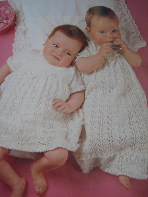 Vintage Christening Dress Knitting PDF Patterns P176d
