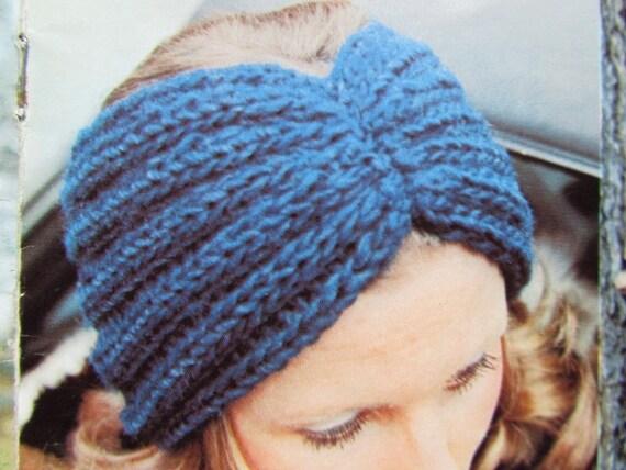Knitted Earwarmer Pattern Knit Headband Pattern Vintage PDF