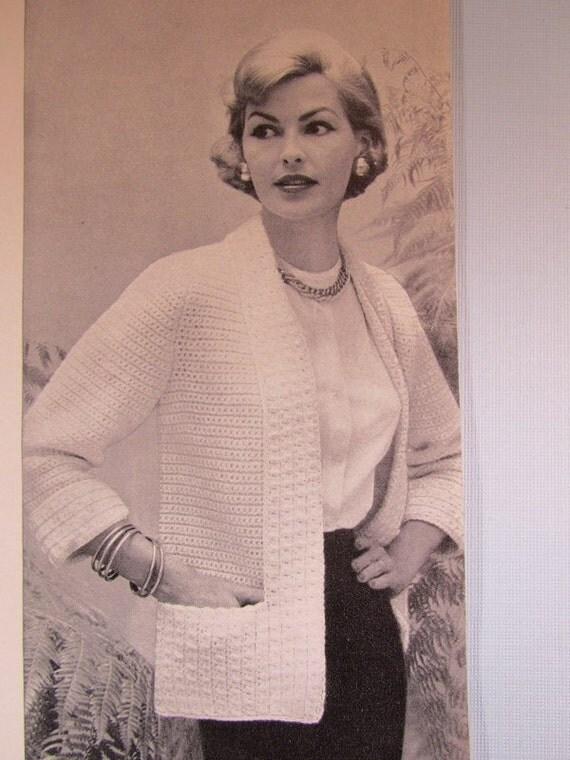 Crochet Sweater Pattern 1950 S Vintage Pattern