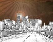 Stone Arch Bridge Downtown Minneapolis Minnesota