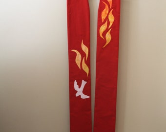 Liturgical Stole : Pentecost and/or Ordination (made-to-order)