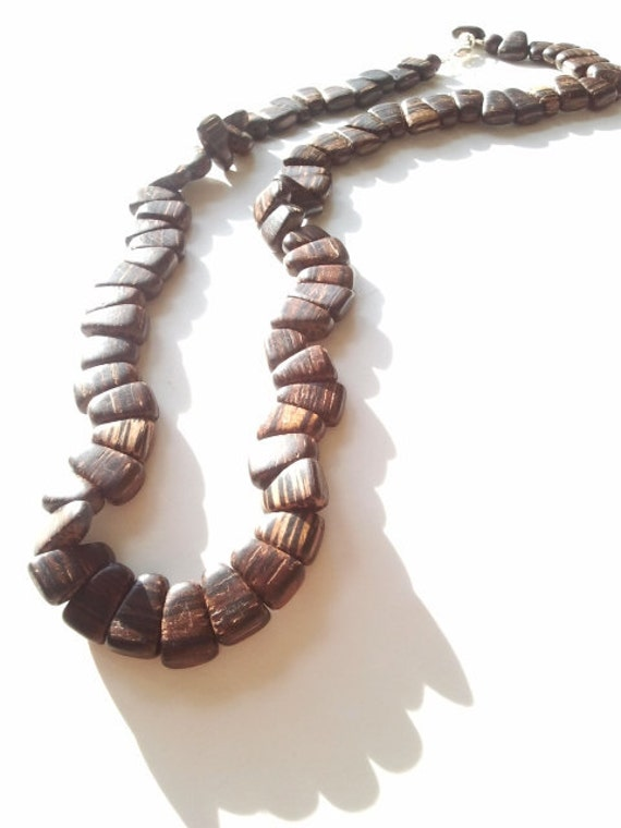 Men S African Wood Beaded Necklace The Jhoni