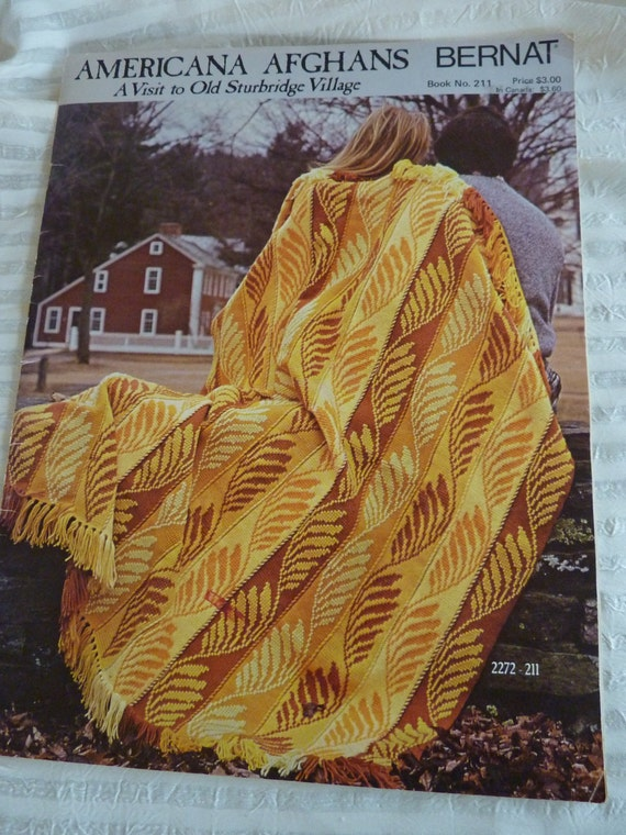 Americana Afghan Patterns by Bernat  1974