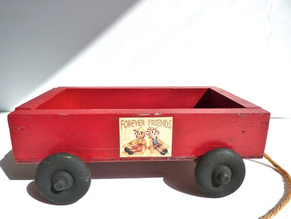 Little Red Wooden Wagon