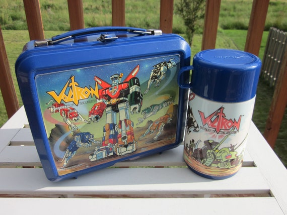 Vintage Voltron Aladdin Lunchbox with Thermos