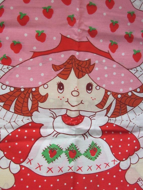 Vintage Strawberry Shortcake Fabric 14