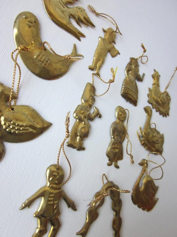 Vintage Twelve Days of Christmas Ornaments