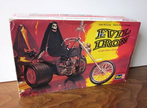 Vintage Revell Evil Iron Knight Rider Chopper Trike Model Kit