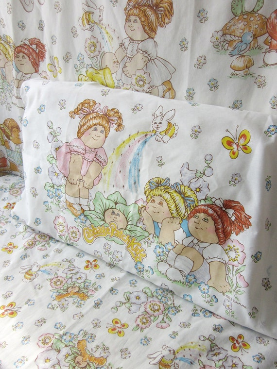 Vintage Cabbage Patch Kids Twin Sheet Set