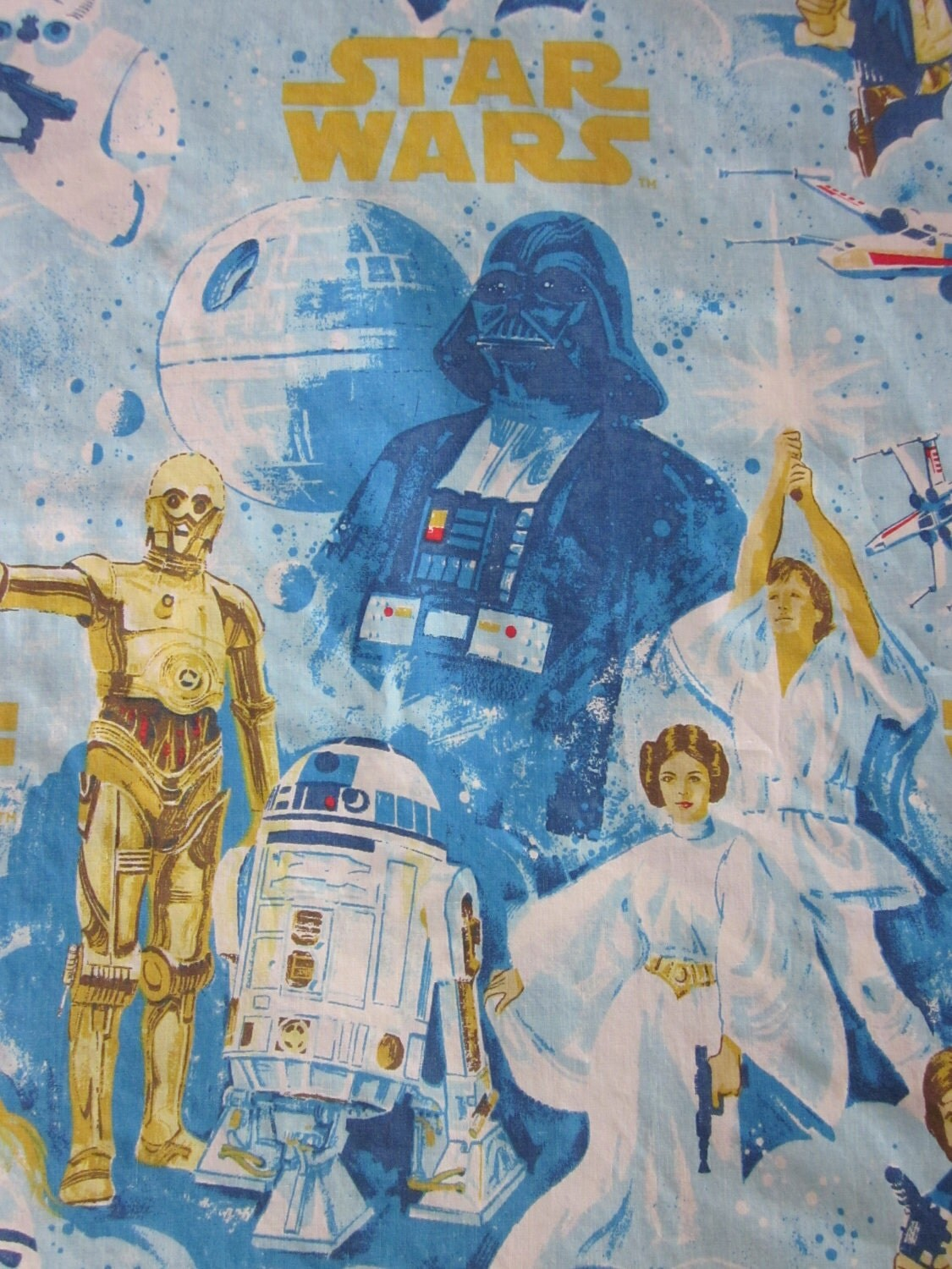Vintage Star Wars Twin Bed Sheets And Pillowcase By