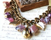 RESERVED FOR MISS S Miss Violet Necklace - Rustic Vintage Chain, Beads, Dangles and Found Items