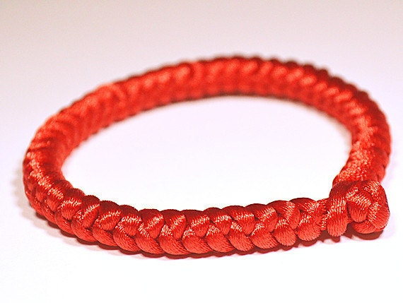 "Red Chinese Knot Bracelet-""JIN GANG"" KNOT for baby/family/couple(Made to order)"