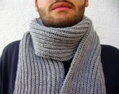 RESERVED Grey Scarf for Men, Ready to Ship