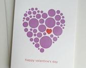 Letterpress Valentine Card - Circle Heart