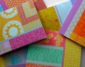 Notecard Set - Set of 6 Blank cards - Boho pattern
