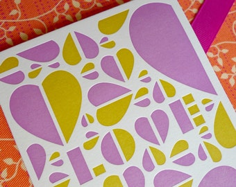 Valentine Card - Letterpress - LOVE
