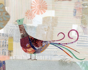 Partridge Collage Print 8x10