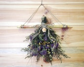 Country DRIED FLOWER Swag - Rustic Primitive Decor