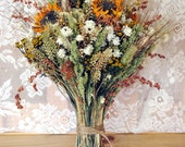 Country Bridal Dried Flower Bouquet