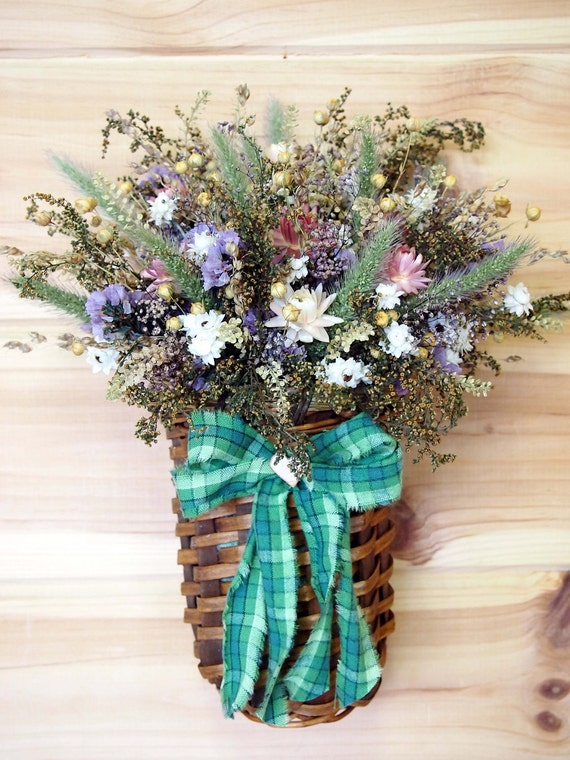 RUSTIC Dried Flower Wall Basket - Perfect for your FARMHOUSE