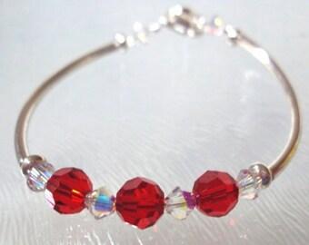 Girls July Birthstone Bracelet, Kids July Bracelet, Childs birthstone bracelet, July jewelry,