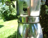 Bialetti Espresso Pot Wind Chime with Labradorite Silver and Blue Gold Stone Beads