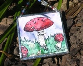 Fly agaric toadstool miniature