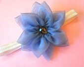 MAYA- ocean blue flower headband