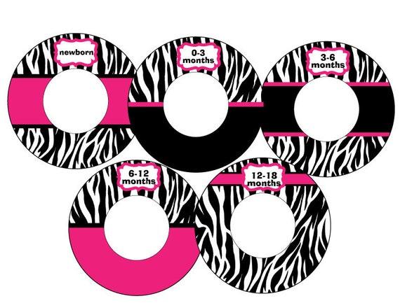 zebra and hot pink closet dividers