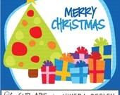 Digital Christmas Clip Art - Bright Christmas