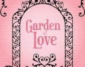 Digital Clip Art - The Garden of Love - beautiful and elegant swirls