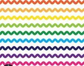 Digital Clip Art - Ribbons - Colorful Wavy Ribbons
