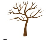 Digital Clip Art - Tree with No Leaves - Winter Tree - perfect for thumb-print tree