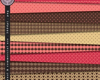 Digital Paper Pack - Choco Pink Colors