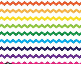 Digital Clip Art - Ribbons - Colorful ZigZag Ribbons