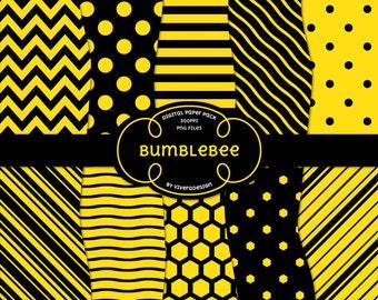 Digital Paper Pack - Bumblebee