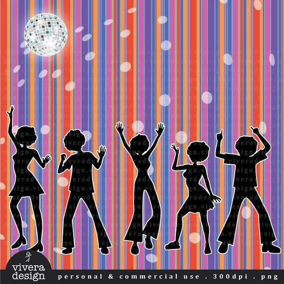 Digital Clip Art - Disco Party
