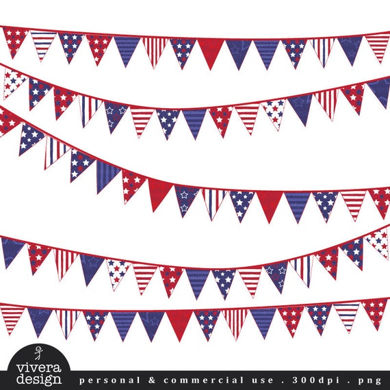 Digital Clip Art - Fourth of July Banners
