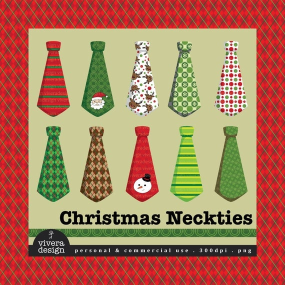 Digital Neckties - Christmas - 20 Neckties with Christmas Patterns