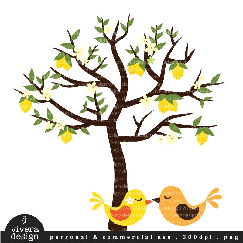 tree with birds clipart - photo #50
