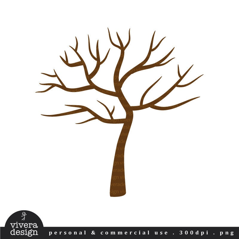 Digital Clip Art Tree With No Leaves Winter Perfect