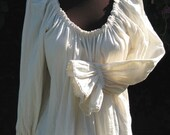 Hip Length and Lace Trimmed Pirate Wench Peasant Blouse