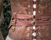 Delicious Extra Wide Steampunk Belt in Textured Browns - CurvyWench