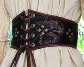 Pirate Wench Studded Extra Wide Belt Ready to Ship Waist Size 27 1/2 to 28 1/2  Ready to Ship